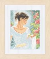 Lanarte - Red Flowers - Kit de broderie au point de croix compté