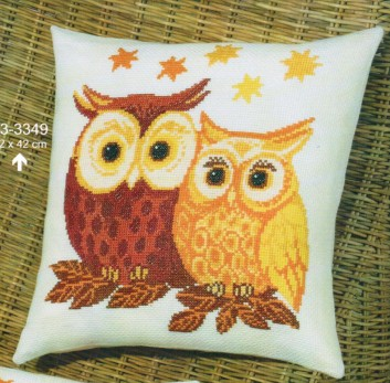 Coussin 2 Chouettes 2