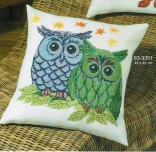 Coussin 2 Chouettes I